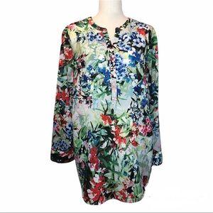 Talbots pretty floral print blouse plus size 1X